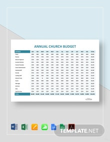 Free Annual Church Budget Template