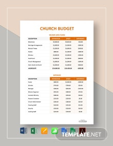 Free Simple Church Budget Template