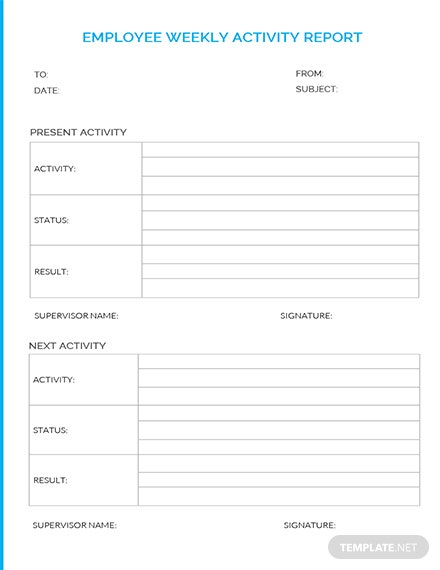 free employee weekly report template - Weekly Report Template