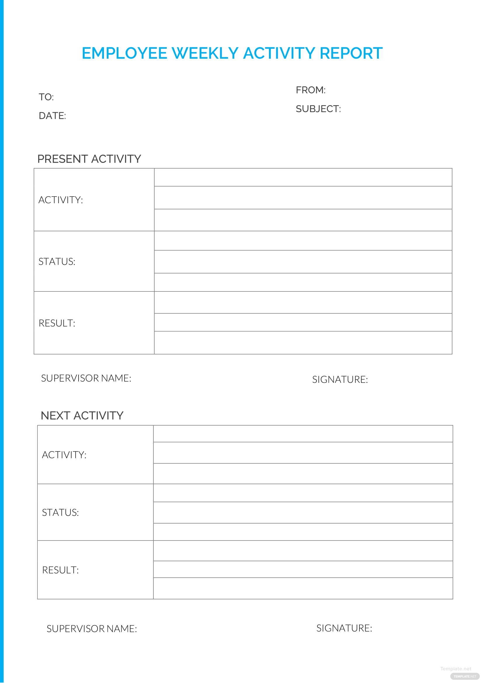 Employee Weekly Report Template in Microsoft Word Templatenet