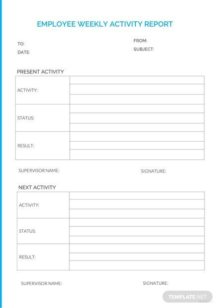 Employee Weekly Report Template: Download 154+ Reports in Word, PDF ...