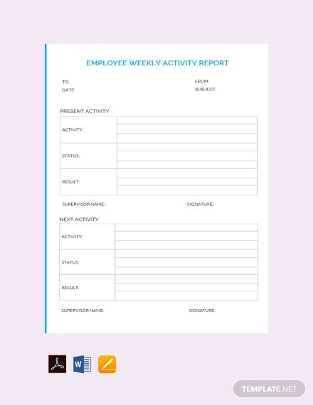 Free Employee Weekly Report Template