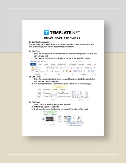 Car Rental Invoice Instructions