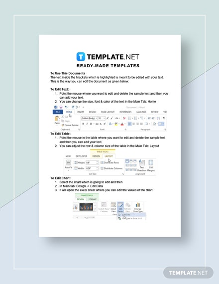 Printable Commercial Invoice Instructions