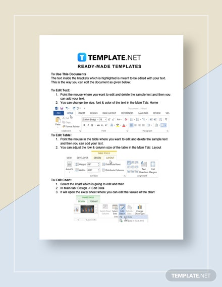 Simple Commercial Invoice Instructions