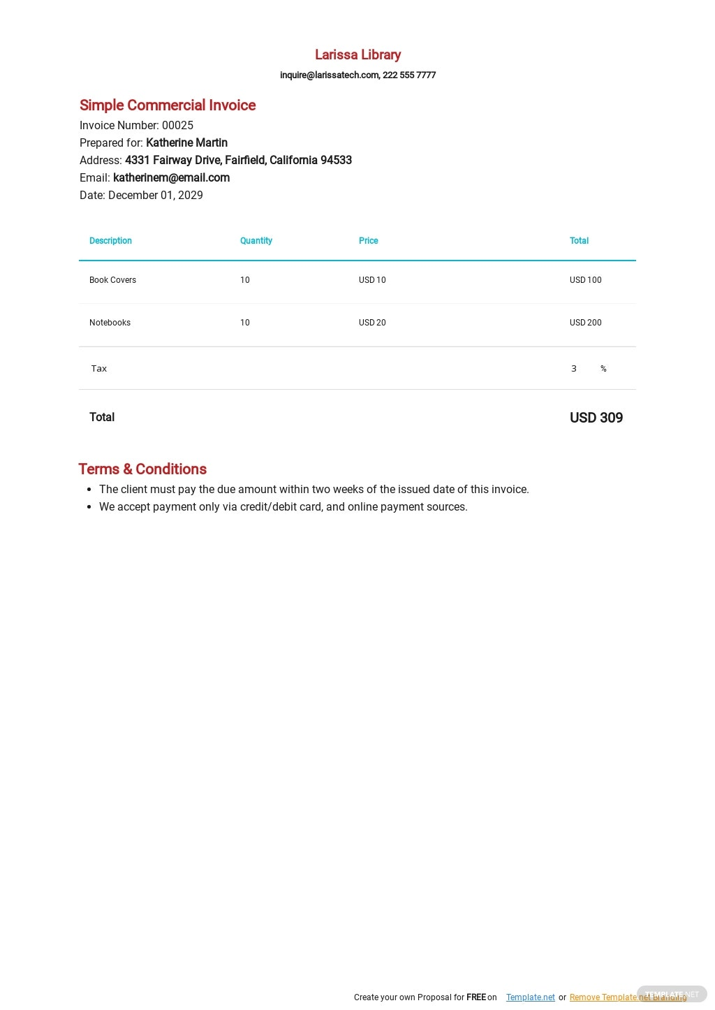 Simple Commercial Invoice Template.jpe