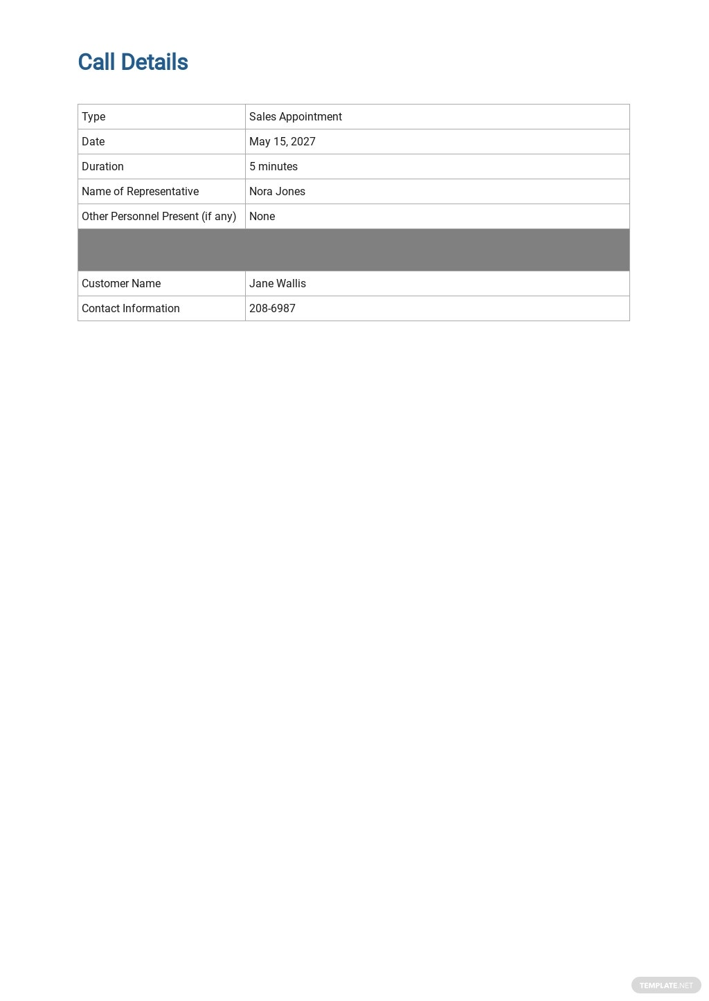 Free Sales Call Report Template 1.jpe