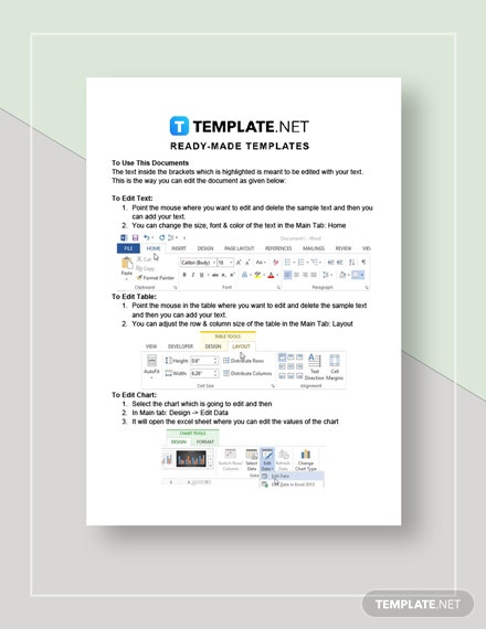 Simple Rental Invoice Instructions