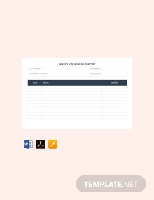Free Weekly Business Report Template