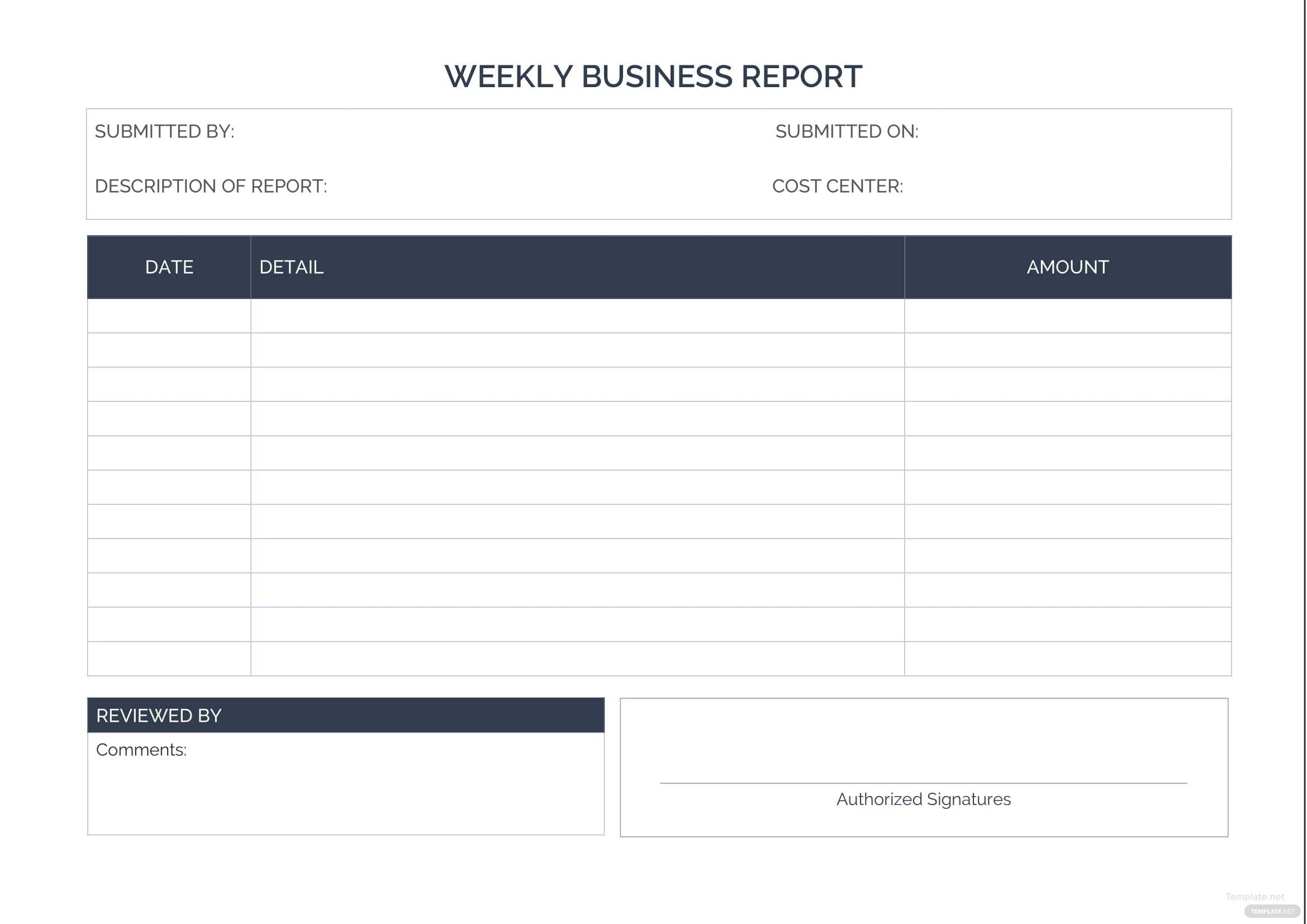 Weekly business report kubreforic weekly business report accmission Image collections