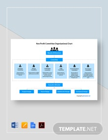 Free Non Profit Committee Organizational Chart Template