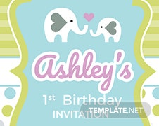 Baby First's Birthday Invitation Template