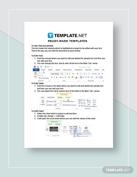Company Expense Sheet Instructions