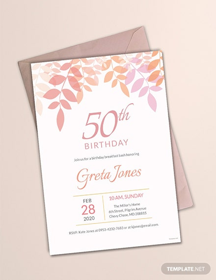 60 Free Birthday Invitation Templates Download Ready Made