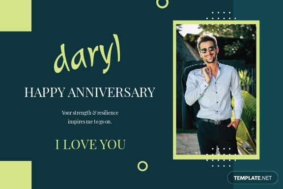 Anniversary Card Template For Husband
