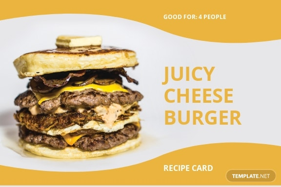 Burger Recipe Card Template