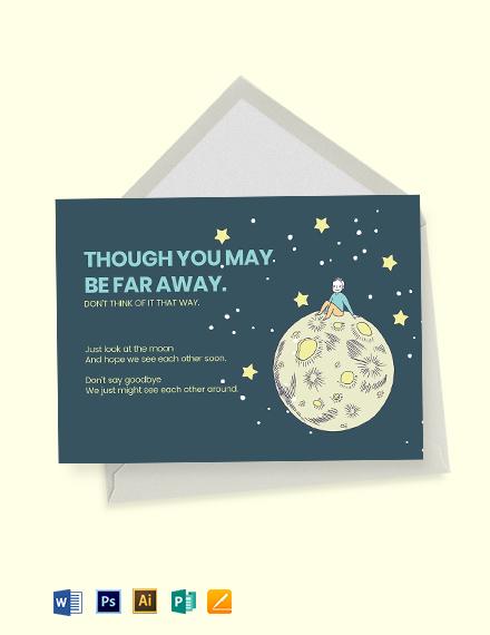 Editable Farewell Card Template