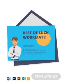 Employee Farewell Card Template