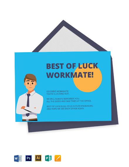 Employee Farewell Card Template