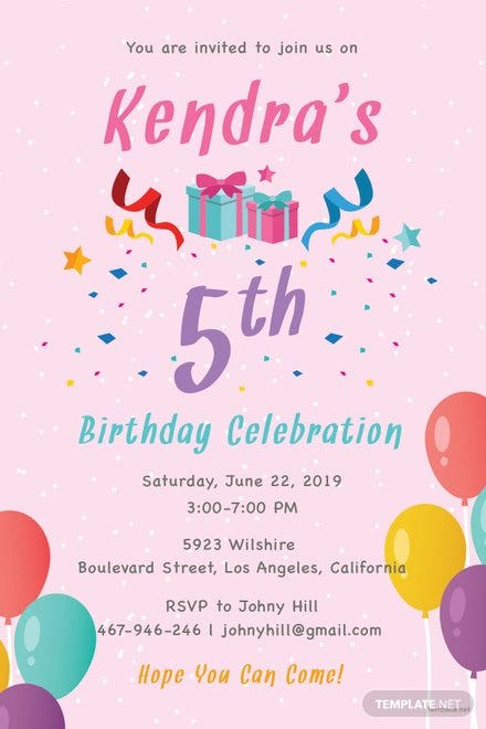 free birthday party invitation template in adobe photoshop