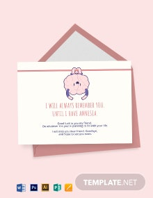 Funny Farewell Card Template