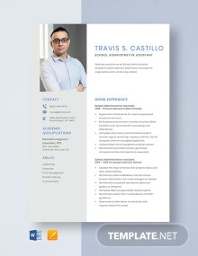 School Administrative Assistant Resume Template