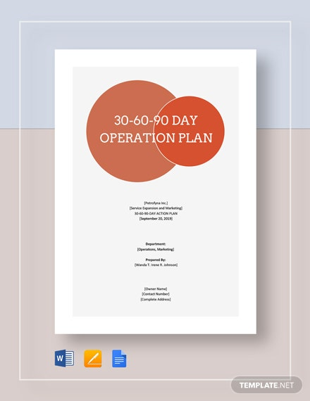 30 60 90 day operations plan