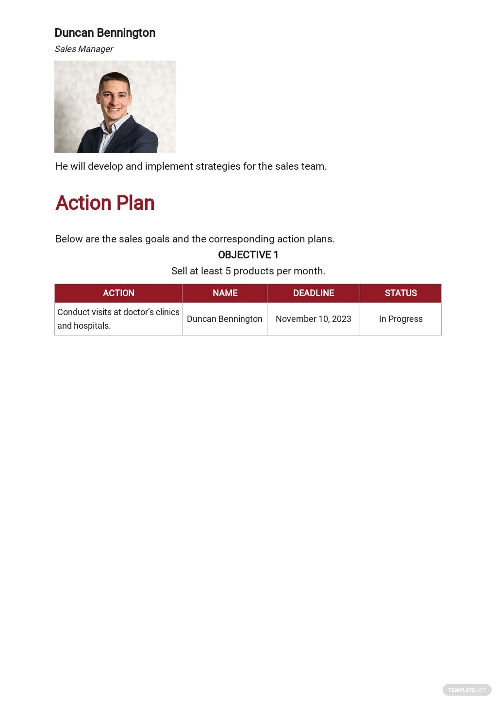 30 60 90 Day Plan Medical Sales Template 4.jpe