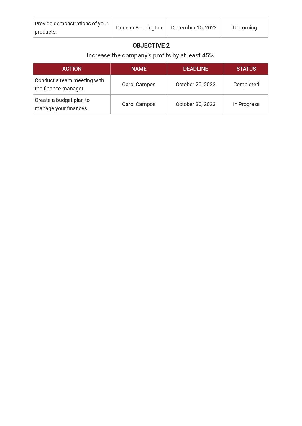 30 60 90 Day Plan Medical Sales Template 5.jpe