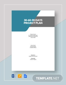 30-60-90-Day Project Plan Template