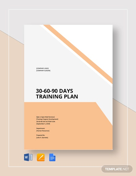 30-60-90-Day Training Plan Template