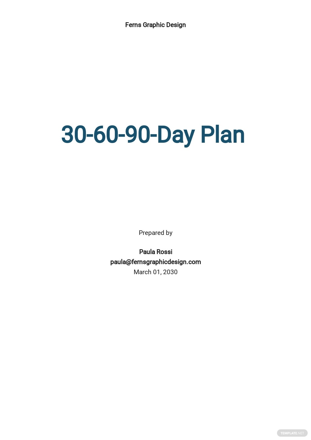 Basic 30-60-90 Day Template