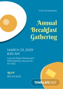 Free Business Breakfast Invitation Template
