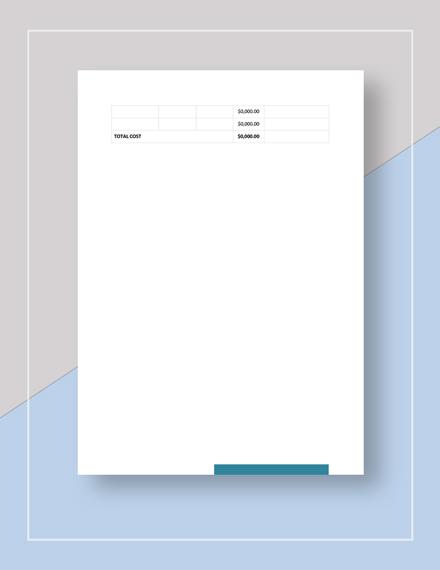 Simple Blank Work Plan