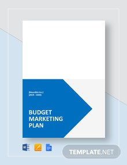 Budget Marketing Plan Template