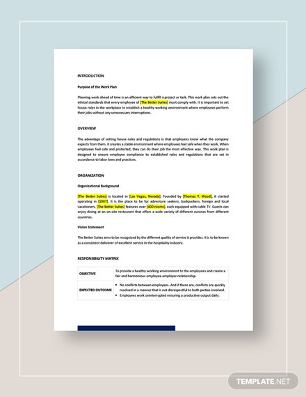 Compliance Work Plan Download