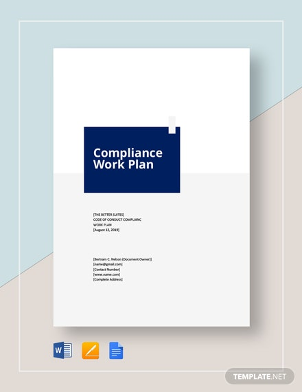 Compliance Work Plan Template
