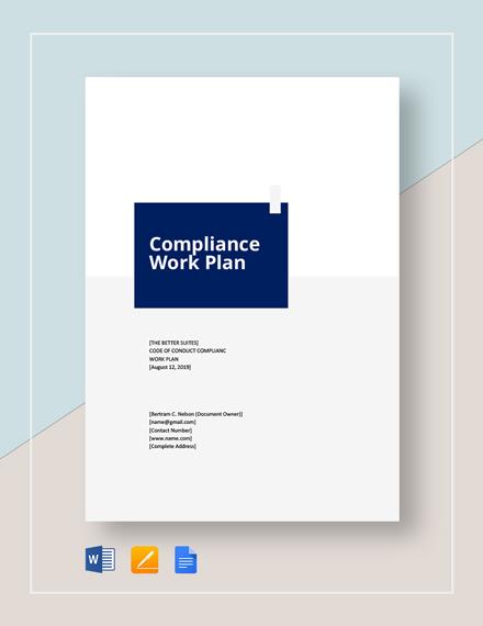 Compliance Work Plan Template
