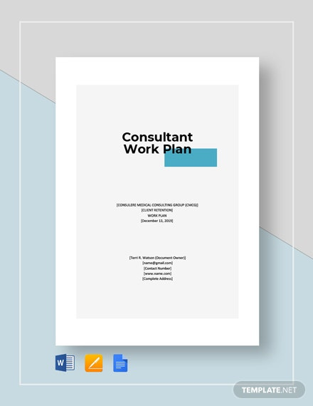 Consultant Work Plan Template