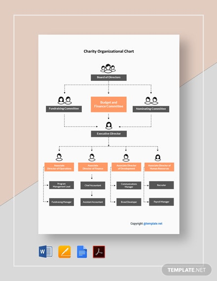 Free Charity Organizational Chart Template