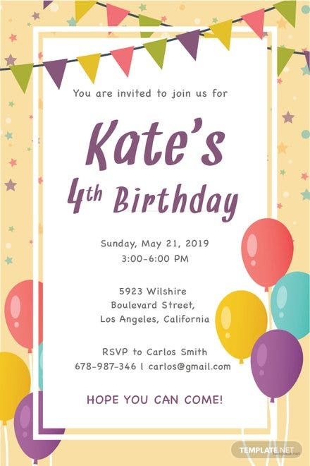 email birthday invitation template in adobe photoshop illustrator