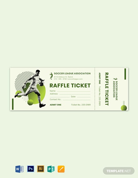 soccer raffle ticket template