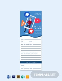Social Media Exit Ticket Template