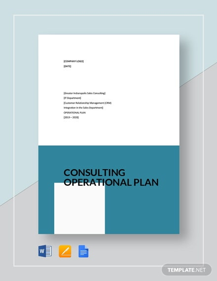 consulting operational plan