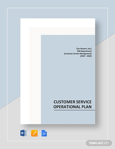 Customer Service Operational Plan Template