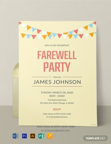12  free farewell invitation templates