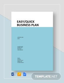Easy/Quick Business Plan Template