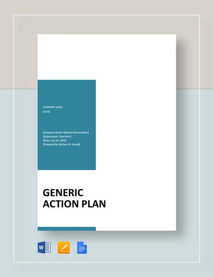 generic action plan