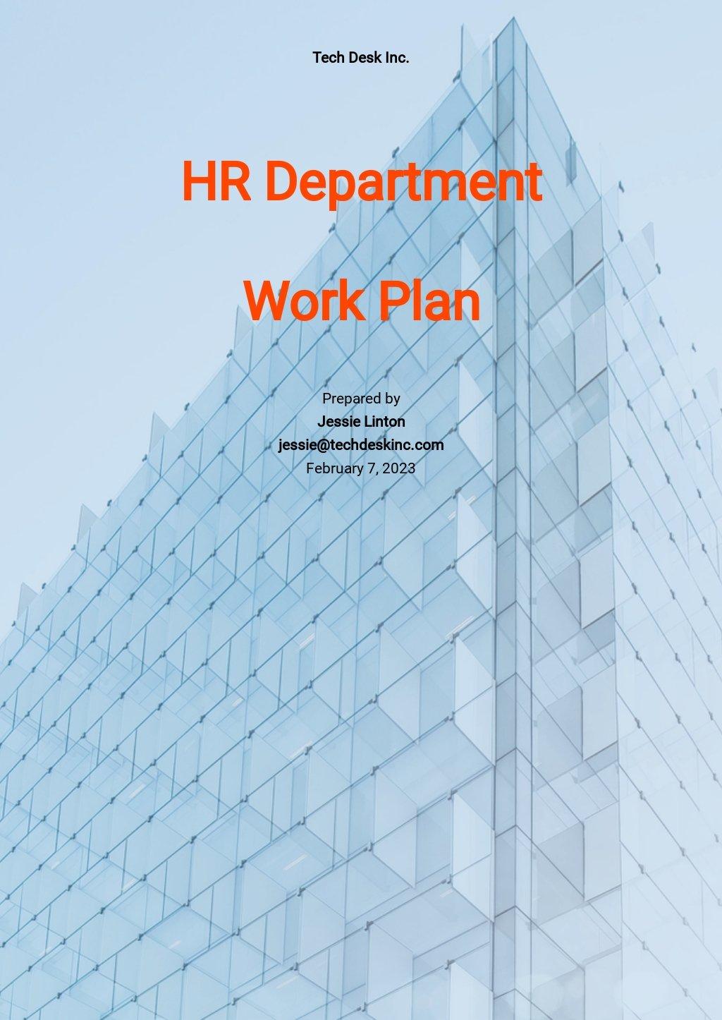 HR Work Plan Template