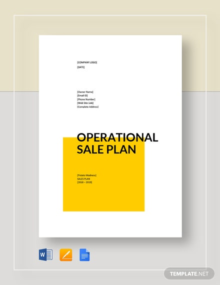 operational sales plan